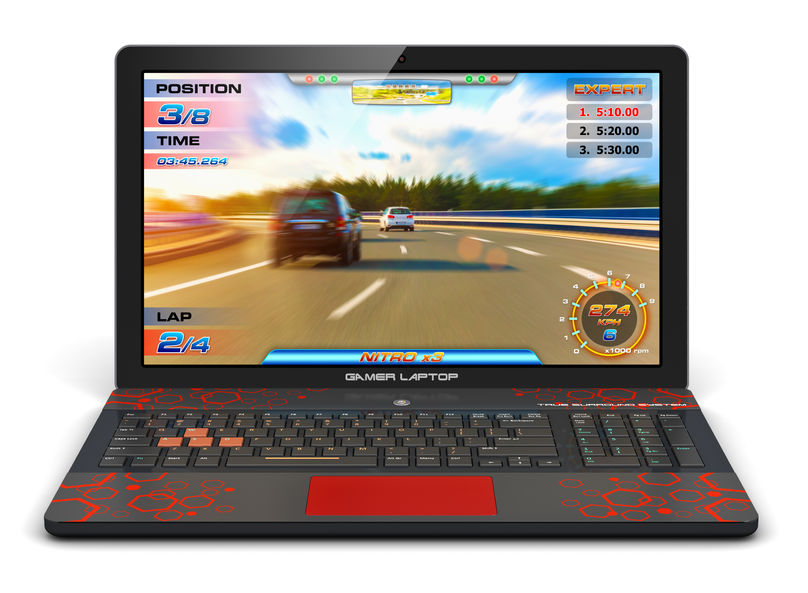 Gaming Laptop Autorennen