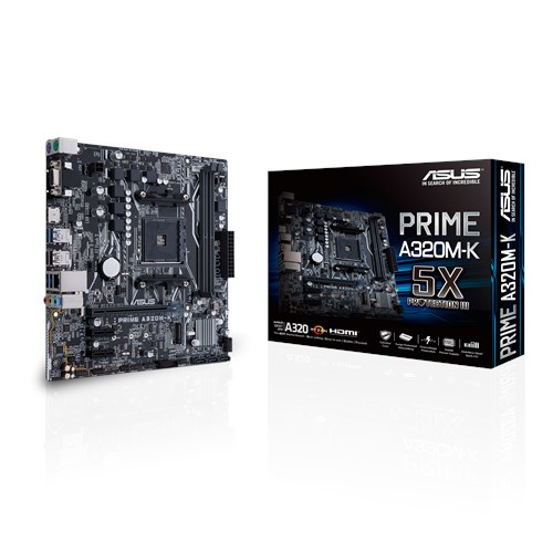 ASUS MB PRIME A320M-K AMD A320 Socket AM4 Micro ATX motherboard