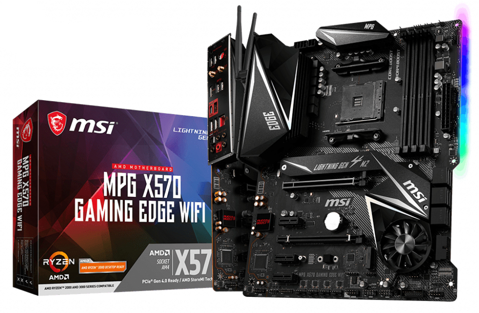 MSI MPG X570 Gaming Edge WIFI motherboard Socket AM4 ATX AMD X570